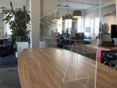 Transparante Eigen huismerk Plexiglas Werkplek Scheidingswand 160x65cm