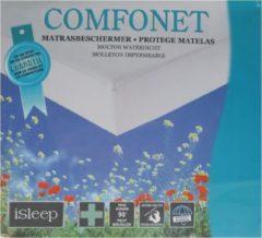 ISleep Molton Hoeslaken Waterdicht - Tweepersoons - 160x200 cm - Wit