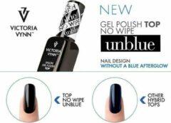 Transparante VICTORIA VYNN™ Victoria Vynn - Gel nagellak - Topcoat - No Wipe - Unblue - 8 ml - Topgel zonder plaklaag - Jouw donkere kleur behoudt zijn werkelijke kleur - Geen paarse gloed meer - MET UV Filter