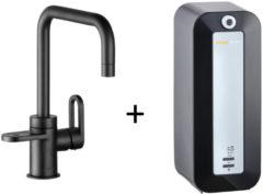Kokendwaterkraan HotSpot Adrianna Mat Zwart Inclusief 8 Liter Boiler