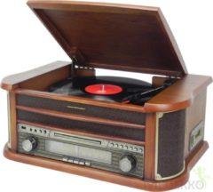 Soundmaster nostalgisch muziek center NR540 bruin - platenspeler