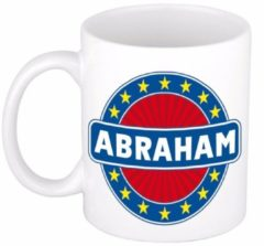 Shoppartners Namen mok / beker - Abraham - 300 ml keramiek - cadeaubekers
