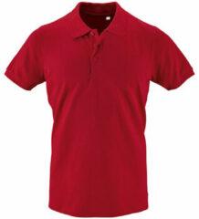 Rode Polo Shirt Korte Mouw Sols PHOENIX MEN SPORT