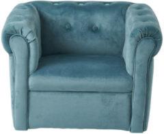 Khadija Kids stoel / Kinderstoel / velvet / fluweel / velours / blauw / slaapkamer / kinderkamer / decoratie / jongenskamer