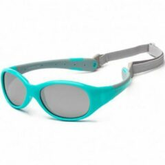 KOOLSUN - Flex - baby zonnebril - Aqua Grey - 0-3 jaar- UV400 - Categorie 3