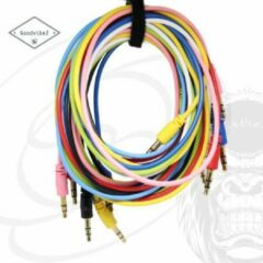 GoodvibeZ Audio Kabel 3.5mm Jack 1M male to male | Quality Cable | voor Auto Mobiel MP3-Speler Koptelefoon Speaker Mixer Headset | Wit