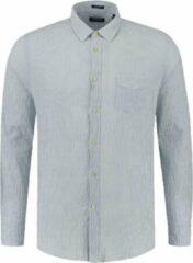 Donkerblauwe Dstrezzed 303438 Casual overhemd met lange mouwen - Maat XL - Heren