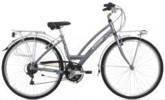 Cicli Cinzia 28 ZOLL CINZIA VITA CITY FAHRRAD ALUMINIUM 21-GANG Citybike Damen grau