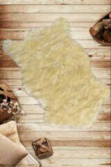 Creme witte Nerge.be | Plush Ecru 60x90 cm - Decoratie Vloerkleed | Wasbaar in de machine | Antislip