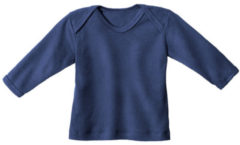 Minibär DESIGN Baby-ribshirt met lange mouwen, blauw 74/80