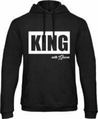 Zwarte B&C Collection King & Queen Hoodie Big (King - Maat XL)