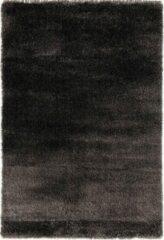 Antraciet-grijze Impression Rugs Pearl Effen Vloerkleed Antraciet Hoogpolig - 200x290 CM
