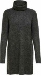 Grijze Only Onljana L/s Cowlnck Dress Wool Knt 15140166 Dark Grey