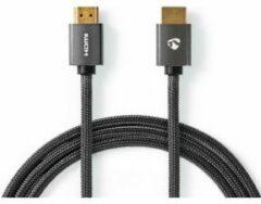 Grijze Nedis High Speed HDMI-kabel met Ethernet | HDMI™-Connector - HDMI™-Connector | Gun Metal Grey | Gevlochten Kabel | 2.0 m