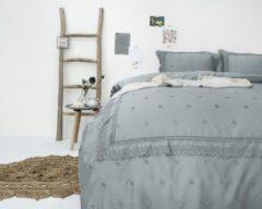 Grijze Fancy Embroidery RL 12 - Dekbedovertrek - Eenpersoons - 140x200/220 cm + 1 kussensloop 60x70 cm - Grijs