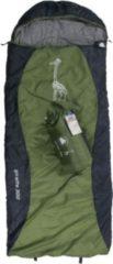10-T Outdoor Equipment 10T Giraffe 300 - Kinder Decken-Schlafsack mit Halbmond-Kopfteil 180x75cm blau/grün Motivdruck bis +10°C