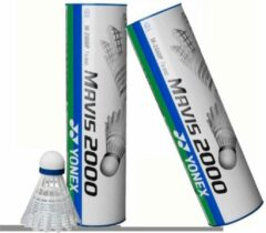Blauwe Yonex Mavis 2000 wit medium snel - top plastic shuttles - 2 kokers