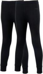 Zwarte Campri Basic Thermo Wintersportbroek - Maat 164 - Unisex - zwart 2-pack