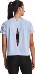 Lichtblauwe Under Armour Tech Vent trainings t-shirt met HeatGear