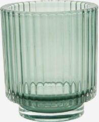 Point-Virgule Point-vergule - Theelichthouder glas groen - 10cm