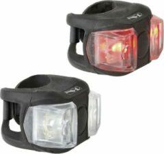 M-Wave Cobra Set - Verlichtingsset - LED - Batterij - Zwart