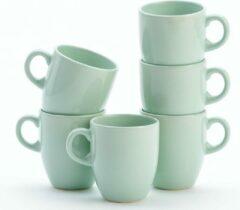 Lite-Body Hermes Koffie beker - 20cl - set van 6 stuks - Mintgroen