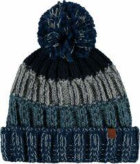 Turquoise Sarlini Muts heren - Winter - Gebreid - One size - Blauw/Grijs - Ski
