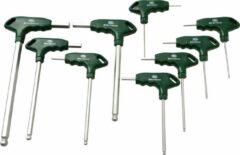 Groene MVC Tools Grippon-H Inbus Schroevendraaierset met T-handvat 9-delig