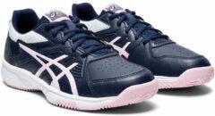 Marineblauwe Asics Asics Court Slide Sportschoenen - Maat 39 - Vrouwen - navy/roze/wit