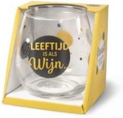 Gouden Miko Wijn- waterglas - Leeftijd is als wijn