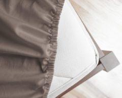 Primaviera Deluxe Hoeslaken Satijn Taupe-180 x 200 cm