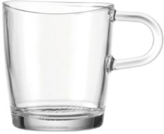 "LEONARDO 043365 ""Loop"" 043365 Kaffeebecher mit Henkel ""Loop"", Glas, 260ml, H 8,8cm, klar (1 Stück)"