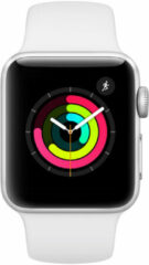 Apple Watch Series3 GPS 38mm Aluminium Case with white Sport Band Smartwatch Zilver