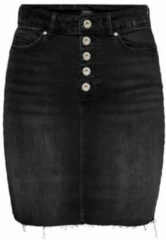 Zwarte Only Denim rok Knoopdetail