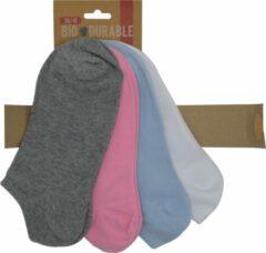 Blauwe Inter socks Sneakersok dames Multipack Dames Maat 36-41 - 12 paar - Moederdag cadeautje