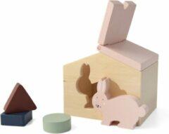 Roze Trixie houten dierenhuis   Mrs. Rabbit   animal house   speelgoed