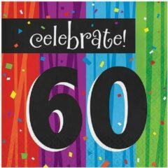 Paarse Creative Converting Servetten milestone 60 (33x33cm, 16st)