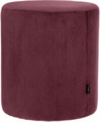 Paarse Riverdale NL Poef Chelsea burgundy 50cm