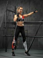 Feelj Sportlegging Dames High Waist - Tattoo - Zwart - S