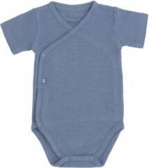 Blauwe Baby's Only Rompertje Pure - Vintage Blue - 62 - 100% ecologisch katoen - GOTS