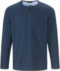 Henleyshirt van 100% katoen Van Louis Sayn blauw