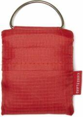 Kikkerland Boodschappentas - Voor aan je sleutelhanger - Gemaakt van Ripstop-stof - Draagvermogen tot 25 KG - Rood