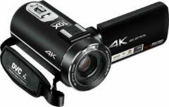 Zwarte Lipa AD-C7 camcorder 4K videocamera - Sony lens en phone remote - 120x zoom - Met 32 GB SD-kaart - Wifi - Aansluiting statief en microfoon