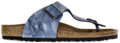 Blauwe Birkenstock Slippers Heren Ramses Regular Fit- Blue Jeans - Maat 46