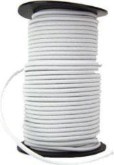 Witte ABC-Led 10 meter elastiek voor mondkapjes - 2 mm - CREME