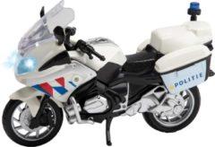 Huismerk Premium Politiemotor + Licht En Geluid - 22 x 9,5 x 14 Cm