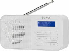 Denver DAB-42 / Draagbare DAB+ radio / FM Radio / LCD display / Koptelefoon sluiting / Alarm functie / Wit