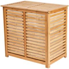 Xenos Wasmand bamboe dubbele mand - 60x40x58 cm
