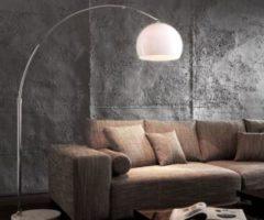 DeLife Lampe Lounge Big-Deal Weiss 140x190 cm Marmorfuß Eco Bogenleuchte