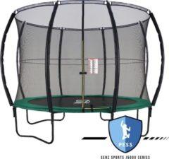 Trampoline - Senz Sports J5000 Series - 366 cm - Groen - Trampoline met elastieken